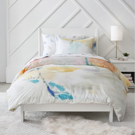 Organic Watercolour Quilt Cover & Pillowcases - Painted Palace
