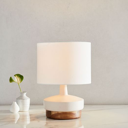 Wood & Ceramic Table Lamp - Small