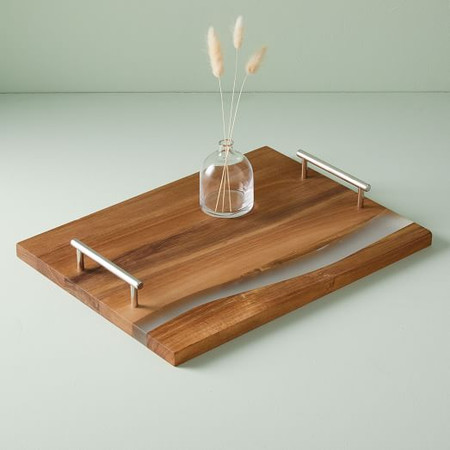 Wood + Resin Tray - Large Rectangle