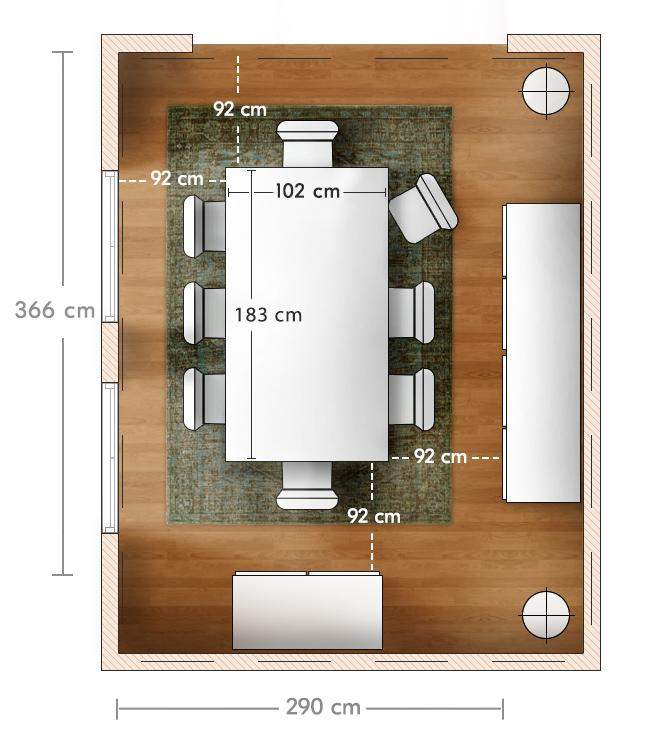 Choose The Right Dining Table West, Average Dining Room Size Australia